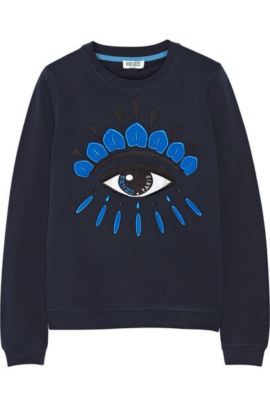 b49f37d1 KENZO Icon Embroidered Cotton Sweatshirt. #kenzo #cloth #tops ...