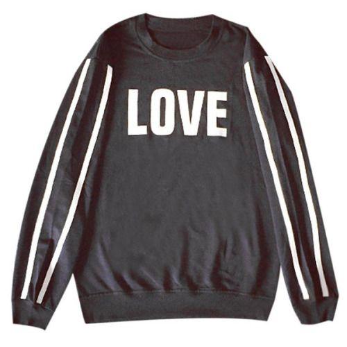 LOVE| $7.95  pastel goth nu goth punk goth grunge fachin sweatshirt top under10 under20 under30 rosewholesale