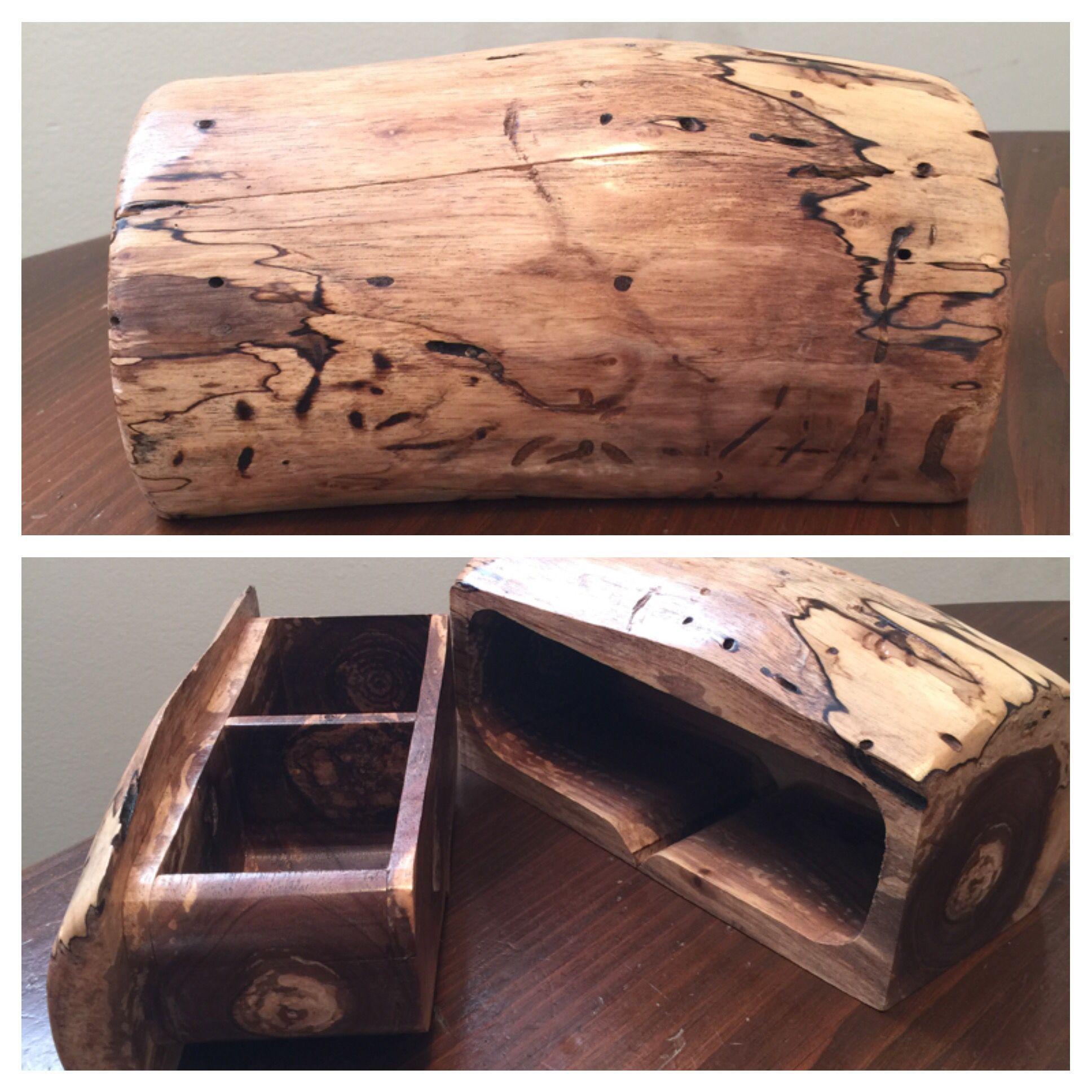 Log Projects: ***SOLD*** Spalted Black Walnut Log Bandsaw Box.