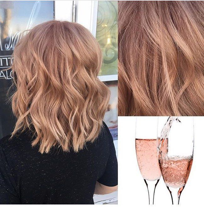 Pink Champagne Hair Dye is Exactly as Pretty as It sounds Glamour Champagne Blonde Hair Color #champagneblondehair