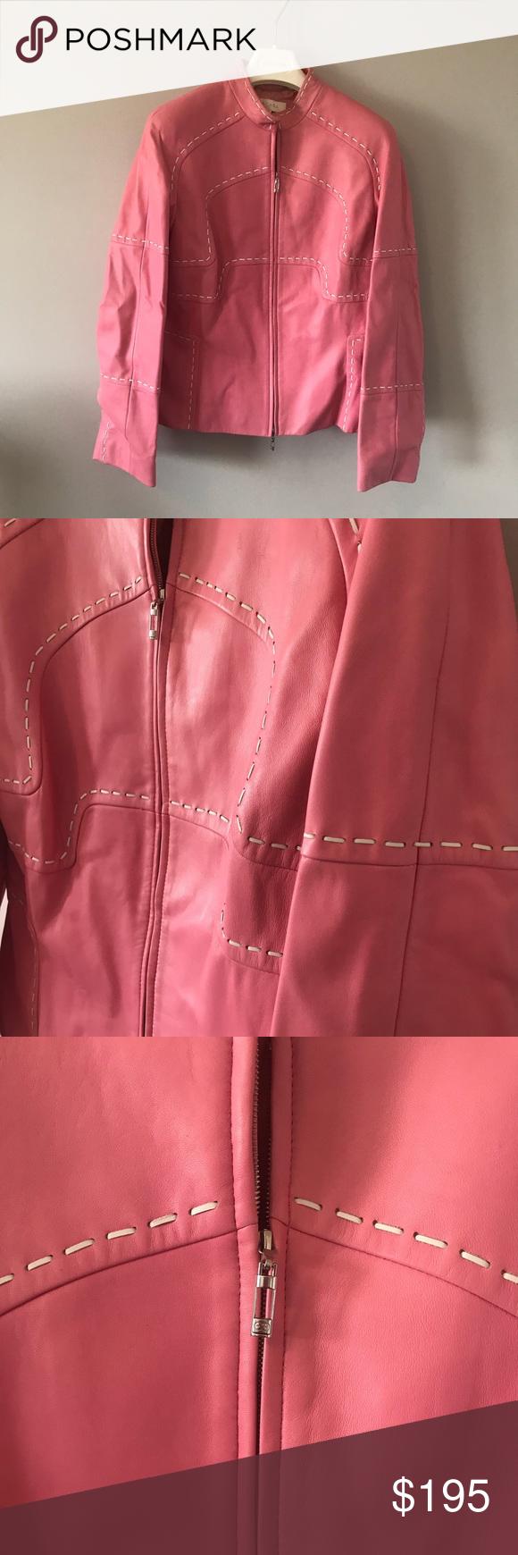 Escada Leather Jacket Escada Jacket Jackets Clothes Design [ 1740 x 580 Pixel ]