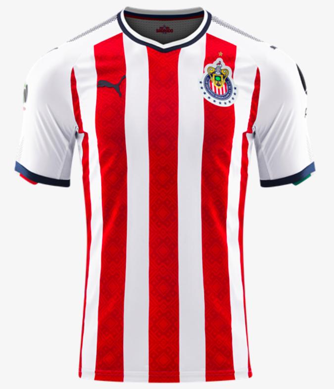 Chivas Guadalajara F.C. Home Jersey 17 18  b4ee47d81