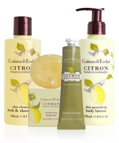 Crabtree & Evelyn Citron Honey & Coriander. Clean, fresh scent. I get mine at Ulta Beauty