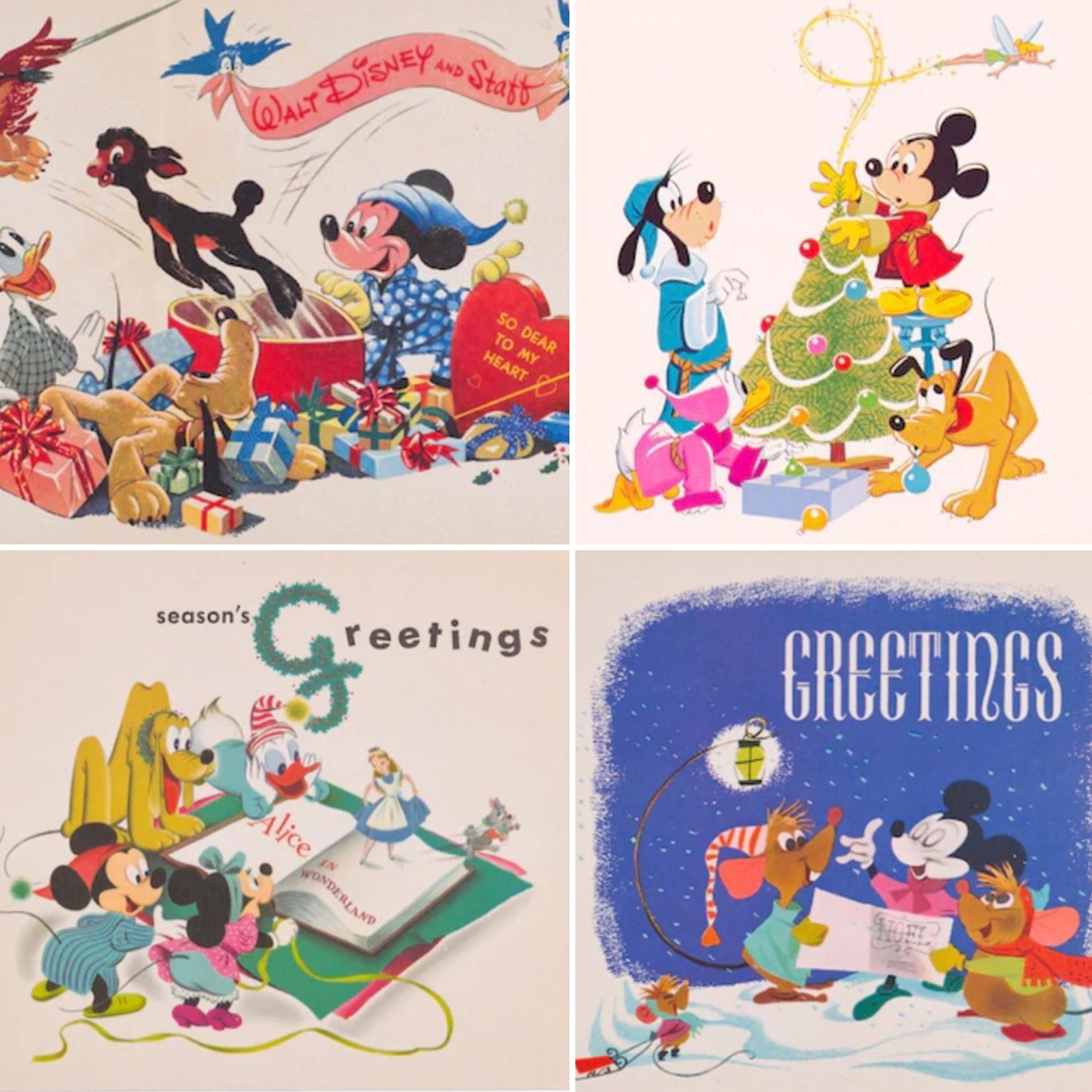 Disney Christmas Cards.Vintage Disney Christmas Cards Disney Christmas In 2019