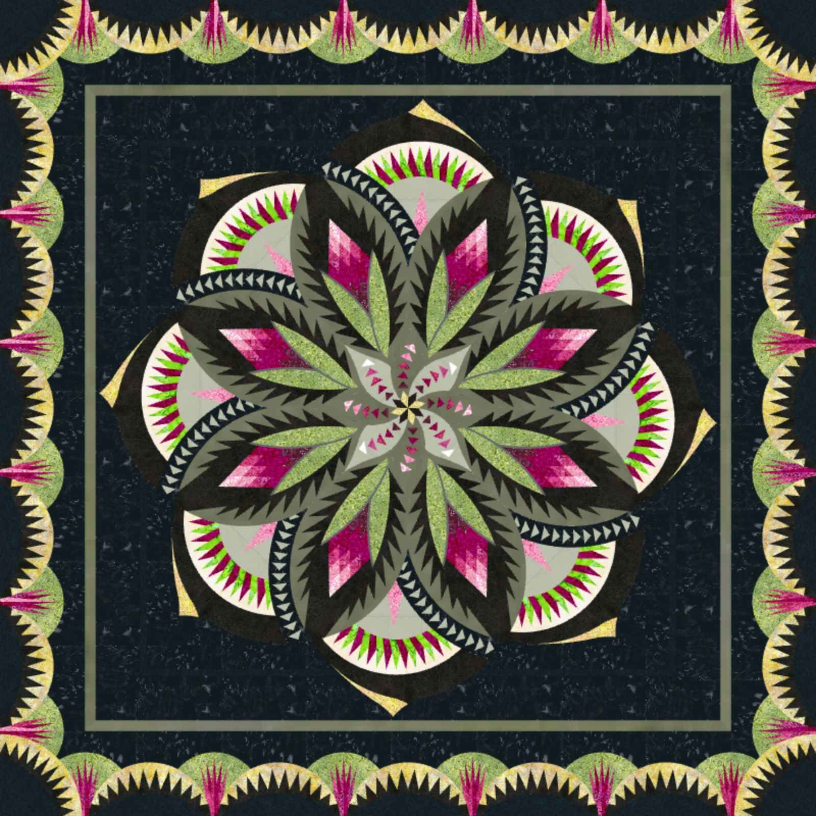 Check out this original color-way designed by diane.gilleran y. Sign up on www.quiltster.com to create your own.