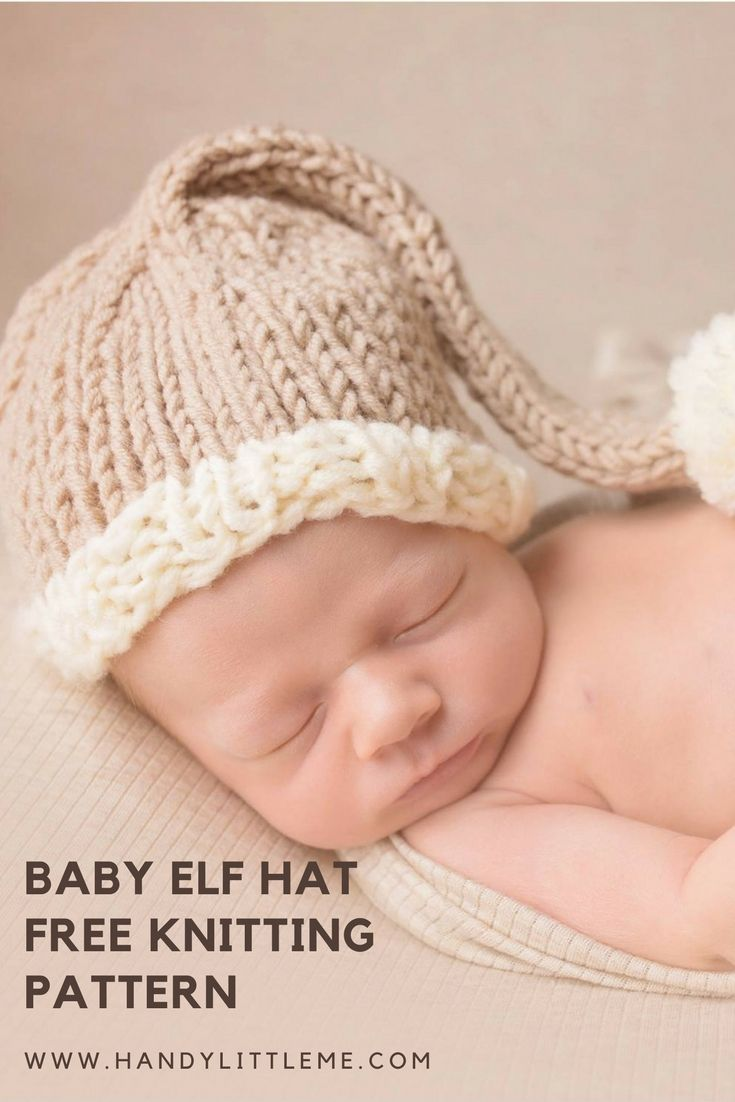 Free Newborn Prop Hat Knitting Pattern | Holiday pictures, Elf hat ...