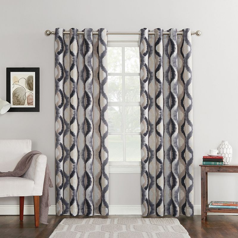 Sun Zero 1 Panel Knox Window Curtain Grey 54x84 Grommet Curtains Curtains Cool Curtains