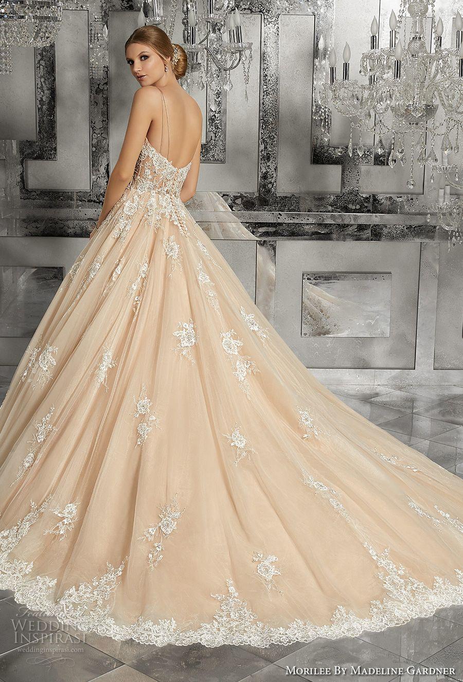 Mori lee madeline gardner wedding dress  Morilee by Madeline Gardner Fall  Wedding Dresses  Chapel train