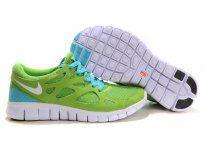 Encuentra elegante nike Free Run 2 verdes azules del Hombres de los zapatos salida