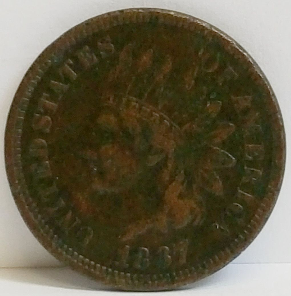 1867 Indian Cent Fine