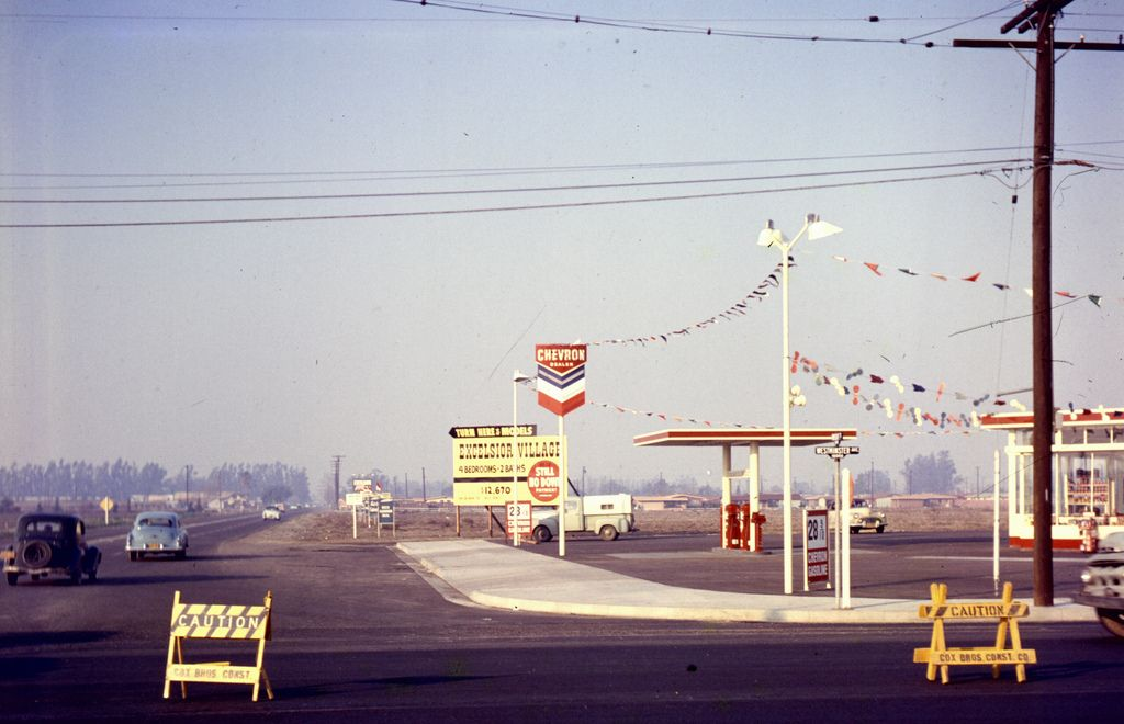 Westminster Ave At Brookhurst St Garden Grove Jan 1957 With
