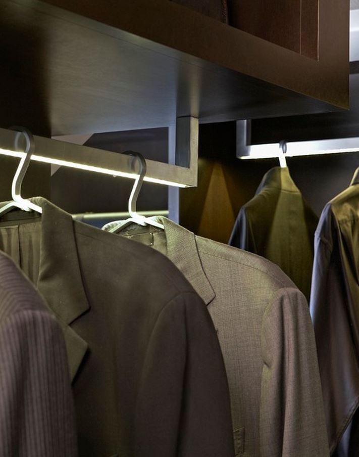 LED Light Integrated Closet Rods