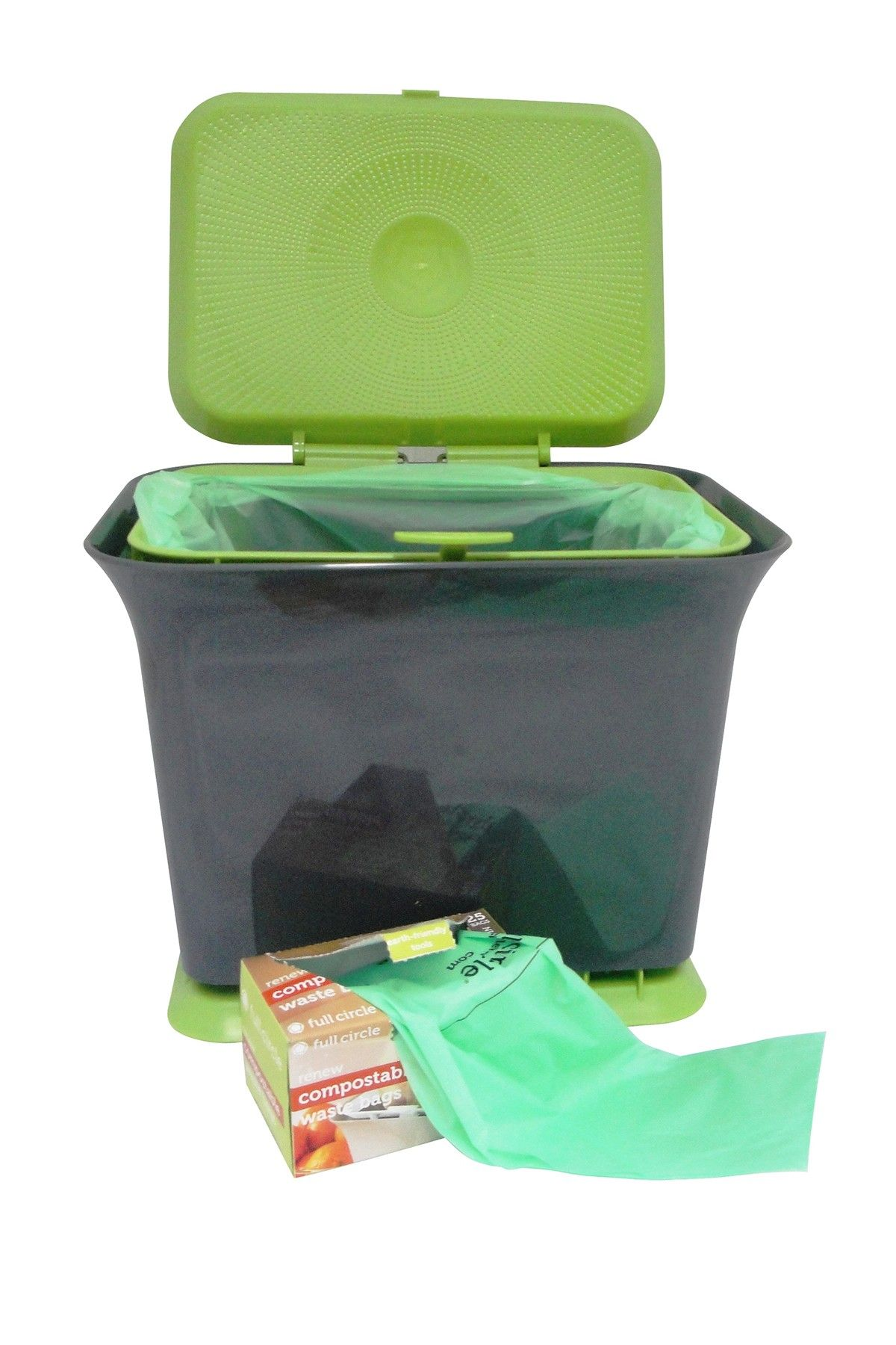 Green Slate Fresh Air Counter Composter By Full Circle On