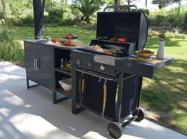 cuisine ext rieure 15 mod les pratiques et esth tiques yard patio pinterest cuisine. Black Bedroom Furniture Sets. Home Design Ideas