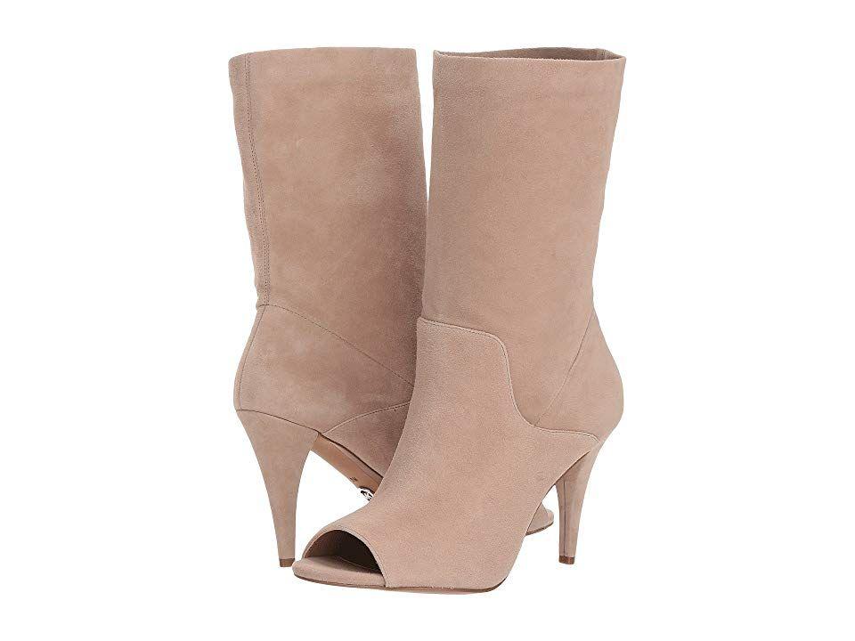e9bc23adf0e MICHAEL Michael Kors Elaine Open Toe Bootie (Truffle Kid Suede) Women s  Boots. Put