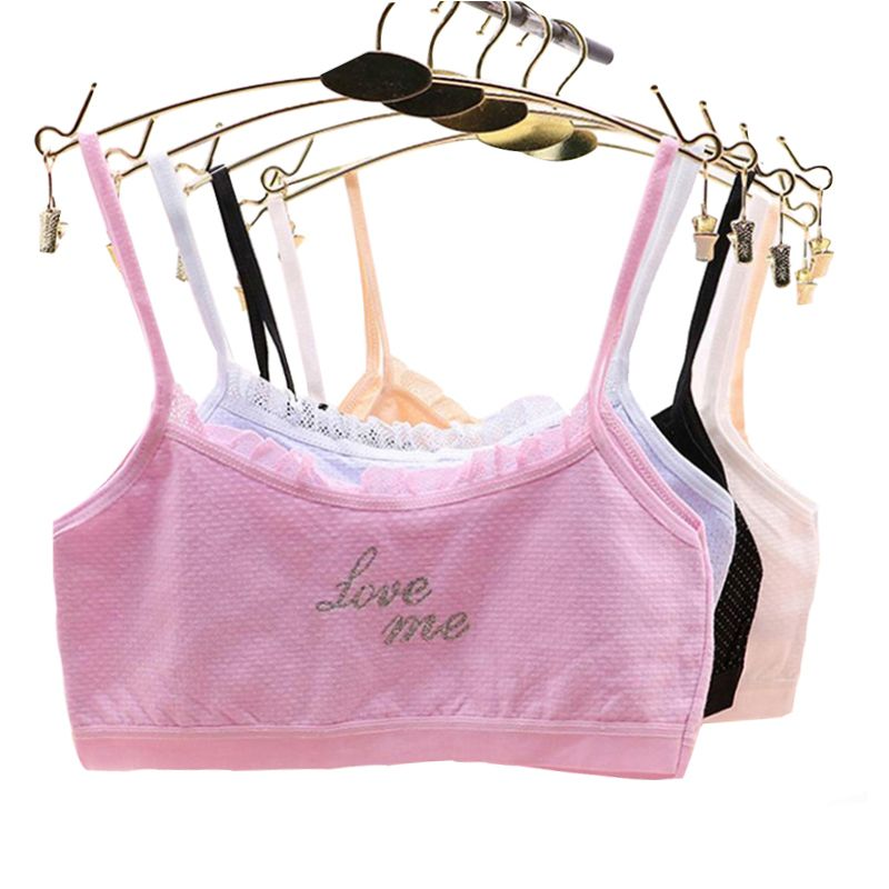 4e8d90d02097a Pluckystar Girl Underwear Lace Bras For Girls Cotton Camisoles Sports Bra  Top For Teens Training Bra