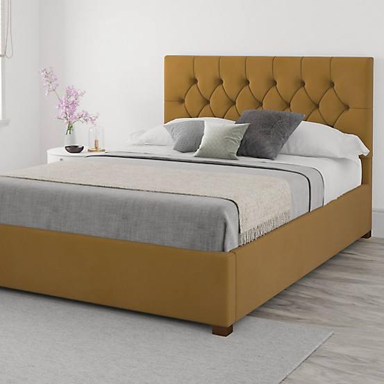 Aspire Alice Velvet End Lift Ottoman Storage Bed In 2020 Ottoman