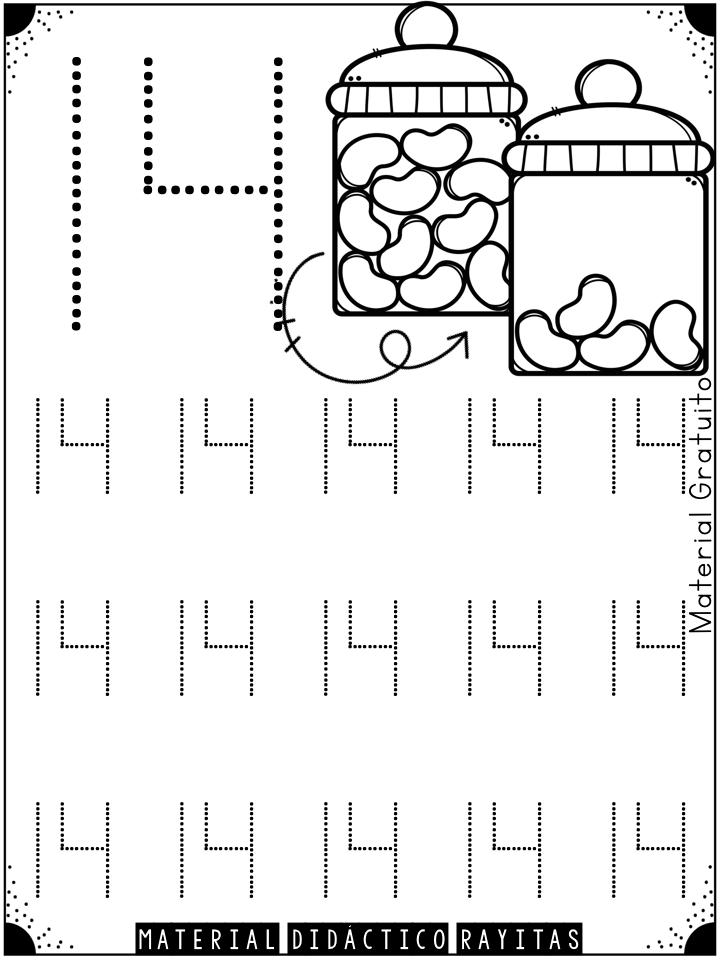 Genial material de trazo de números para preescolar