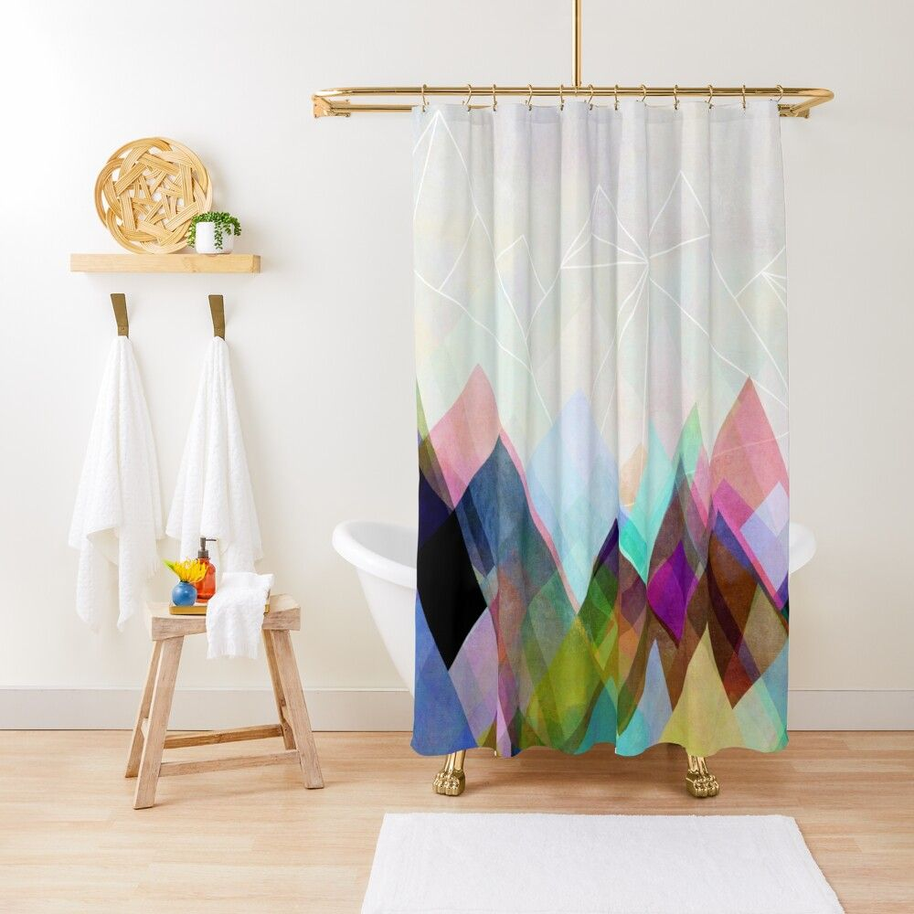 Graphic 104 Shower Curtain By Mareike Bohmer In 2020 Kids Shower Curtain Purple Shower Curtain Shower Curtain