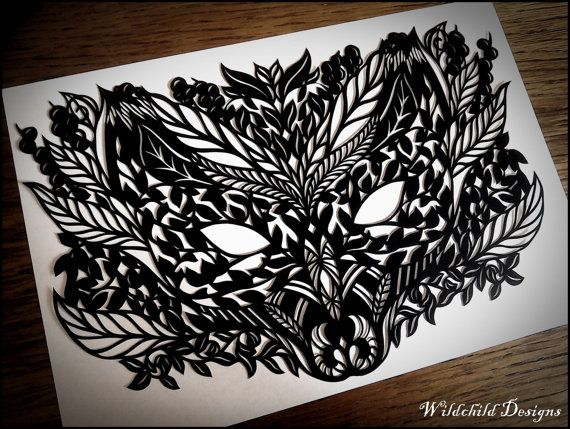Fox and Woodland Mask Spiritual Mystical by WildchildDesigns77