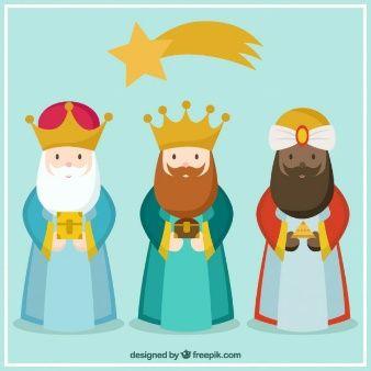 Los Tres Reyes De Oriente En Estilo Dibujos Animados Escuelita