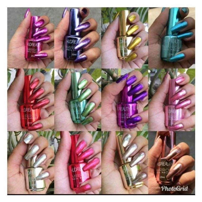 مناكير مرايا هدي بيوتي Mirror Nails Mirror Nail Polish Nail Jewels