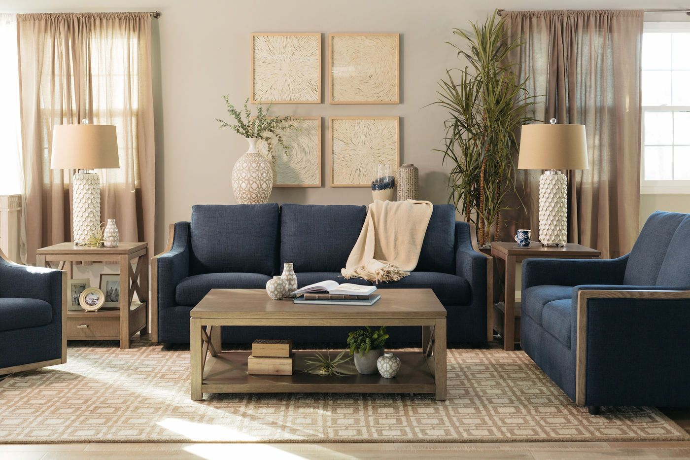 Boulevard Flanigan Midnight Sofa Mathis Brothers Furniture