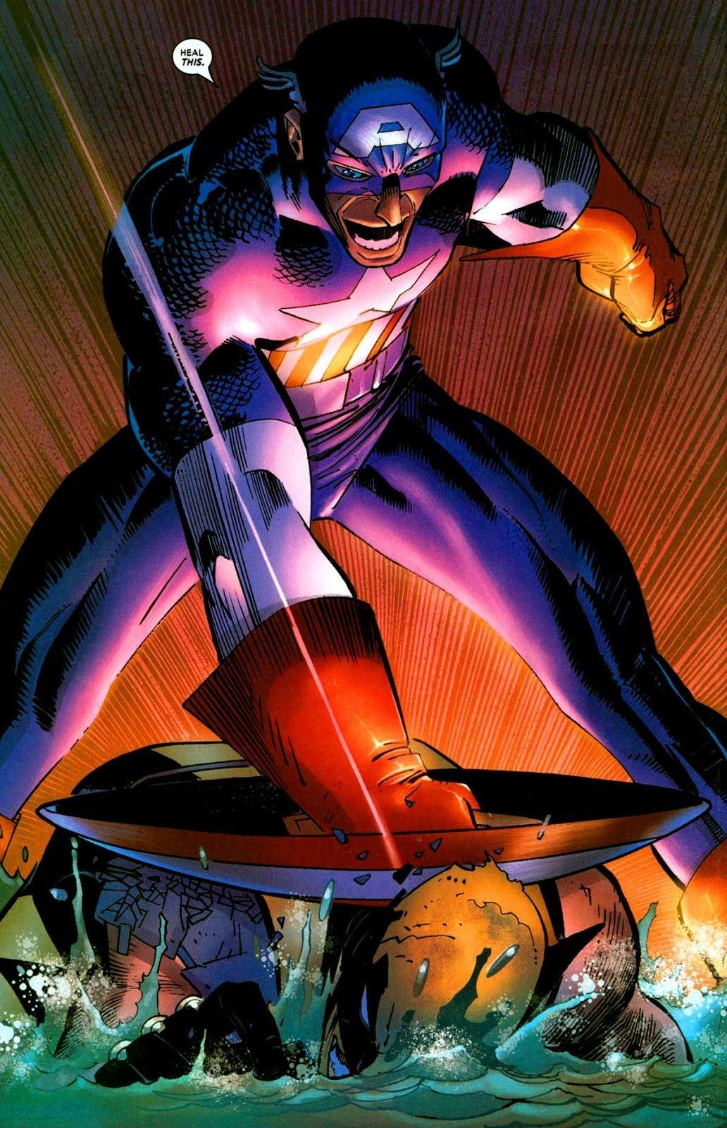 Wolverine vs Captain America (Wolverine#25 2005).   COMICS! Cool ...