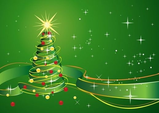 Christmas Background With Star And Green Ribbon Free Christmas Backgrounds Christmas Background Christmas Background Images