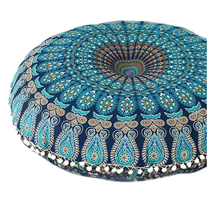 Big 80cm Cover Ornament Round Bohemian Meditation Cushion Cases