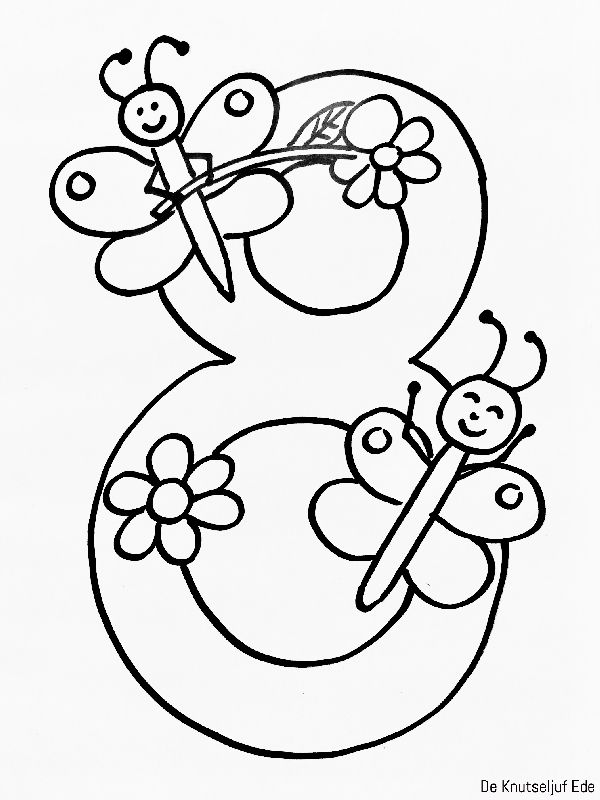 Schrijfmotoriek Getal 8 Lasteaed hulk number kujund t