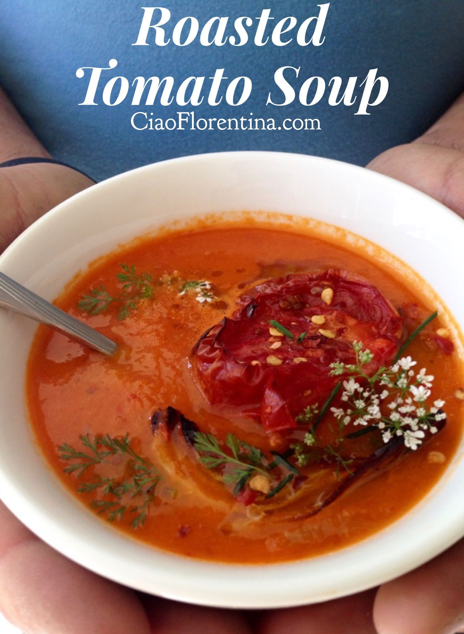 Roasted Tomato Soup Recipe Ciaoflorentina Recipe Tomato Soup Recipes Roast Tomato Soup Recipe Roasted Tomato Soup