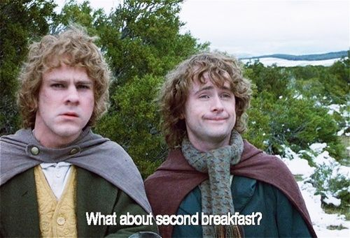 What about second breakfast? Merry and Pippin   Homeschool memes,  Homeschool humor, Homeschool quotes
