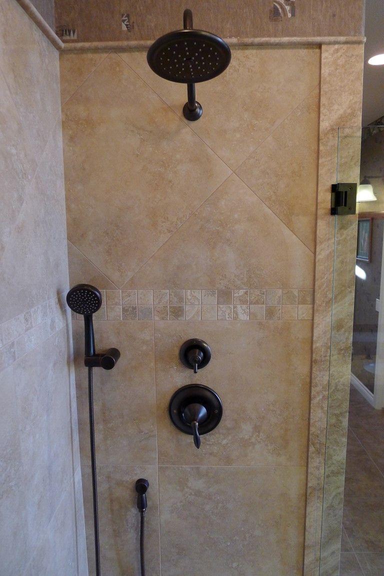 "Travertine Shower Ideas polished porcelain 20"" x 20"" roma camel tile. carmel travertine"