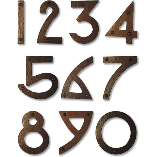 Craftsman House Numbers Craftsman House Numbers Arts And Crafts House Copper House