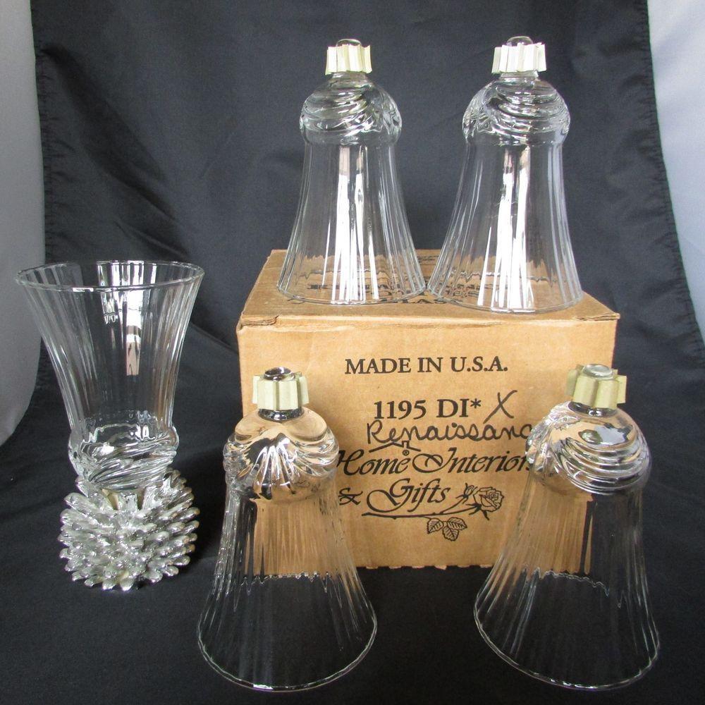 5 Home Interiors Homco RENAISSANCE Glass Votive Candle ...