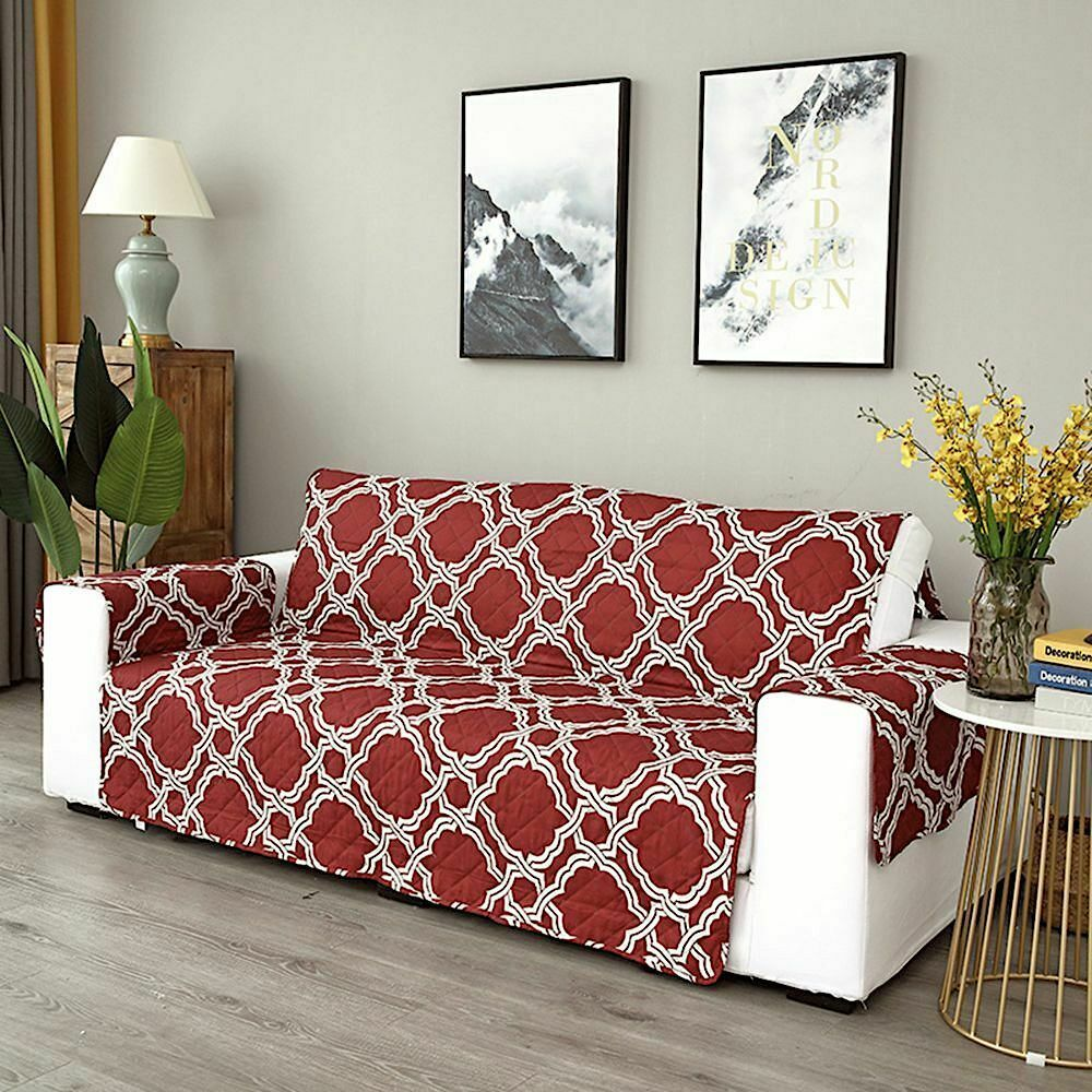 Sofa Cover Waterproof Furniture Protector Double Sided Vintage Plaid Printed New Sofa Slipcover Ideas Of Sofa S In 2020 Armchair Furniture Quilted Sofa Sofa Covers