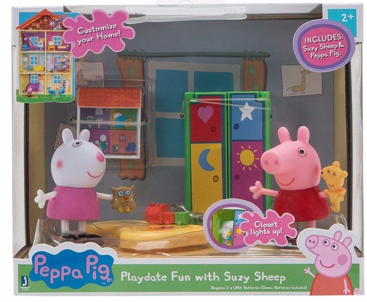 Playdate Fun w/ Suzy Sheep | Peppa pig toys, Little girl ...