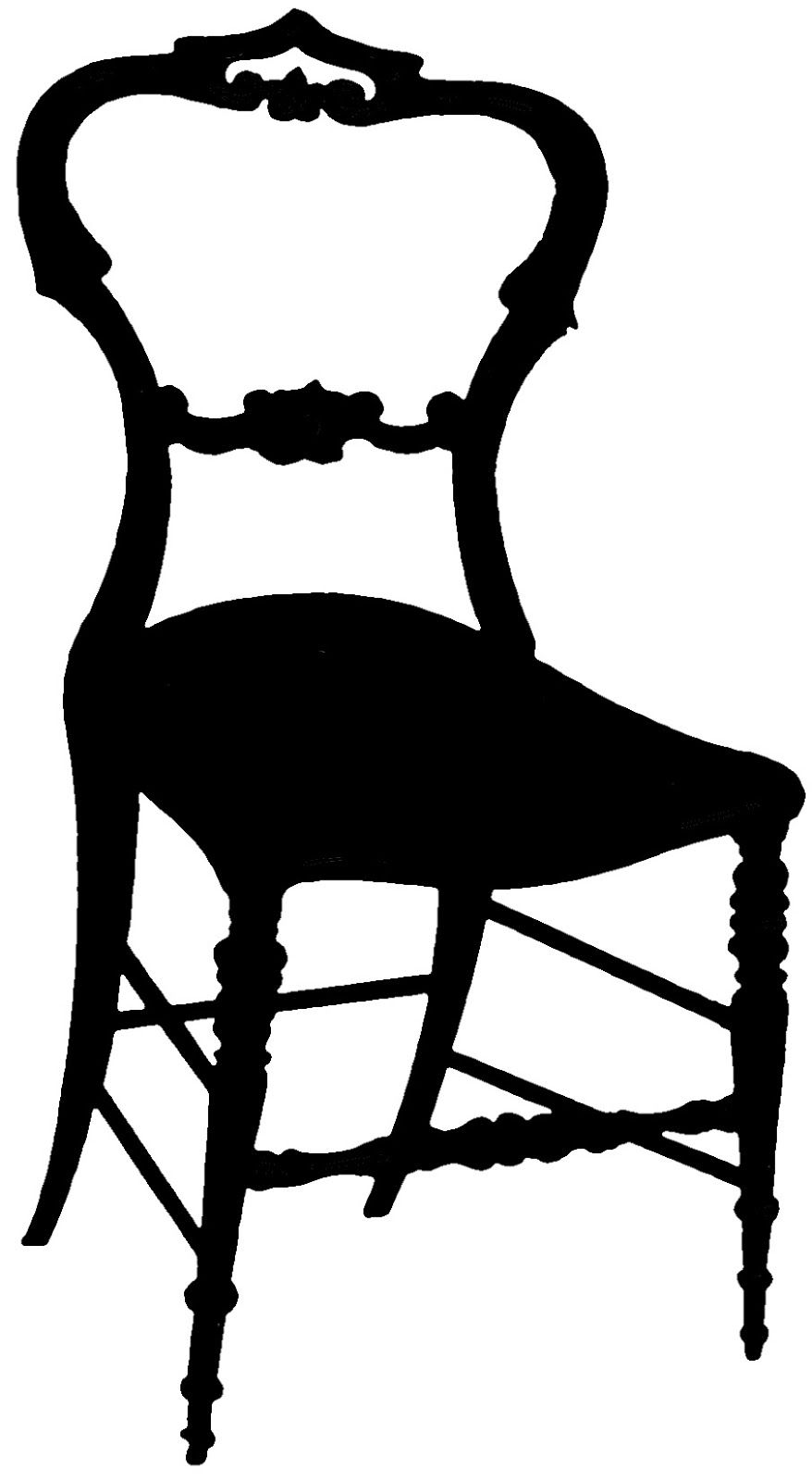 Vintage Graphic Silhouette Frenchy Chair The Graphics Fairy Vintage Graphics Silhouette Artist Silhouette Drawing