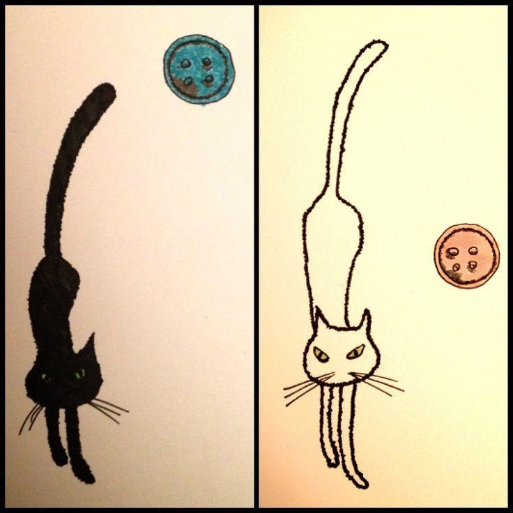 Pin By Muge Cetinkaya On Cats Pinterest Cat Tattoo Coraline Cat Coraline Tattoo