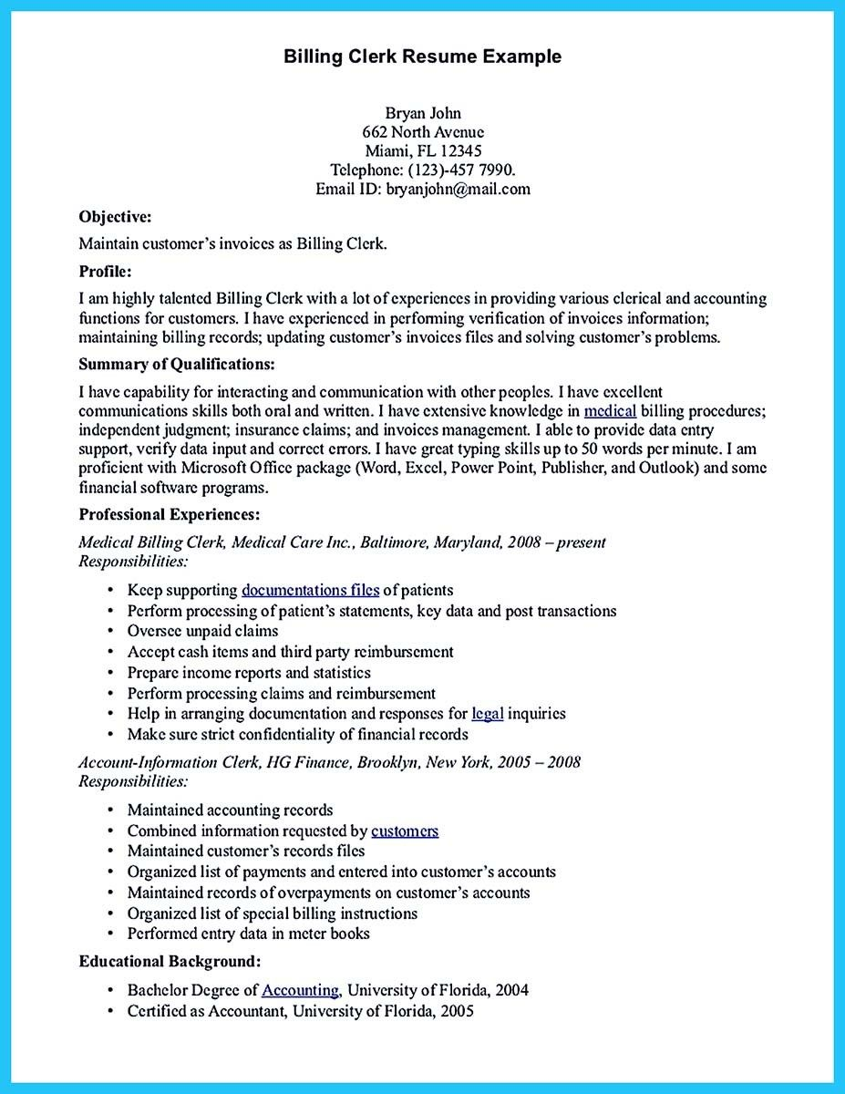 nice exciting billing specialist resume that brings the job to you