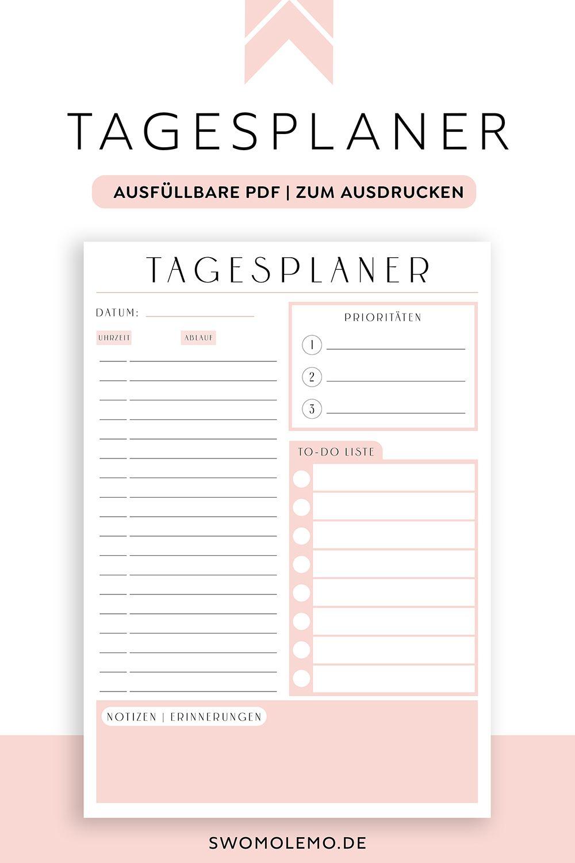 Tagesplan Vorlage Rosa Pdf Download Swomolemo In 2020 Tagesplan Vorlagen Planer Vorlagen Vorlagen