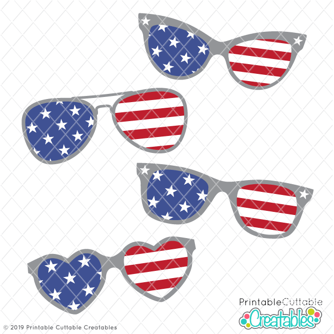Free 4th of July Sunglasses SVG Files for Cricut & Silhouette is part of Svg free files, Svg files for cricut, Free svg, Svg, Freebie svg, Free svg cut files - Free 4th of July Sunglasses SVG Files  Free Patriotic SVG, DXF, PNG files for Silhouette & Cricut  Free Independence Day SVG files for cutting machines