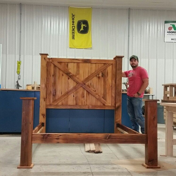 Queen size bed frame from siding off old barn #barnwood   Barn wood ...