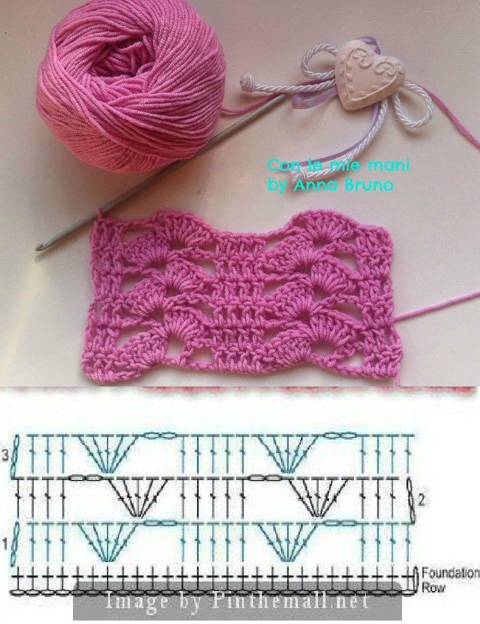 Rosa Bernal | Crochet | Pinterest | Häkelmuster, Häkeln und Muster
