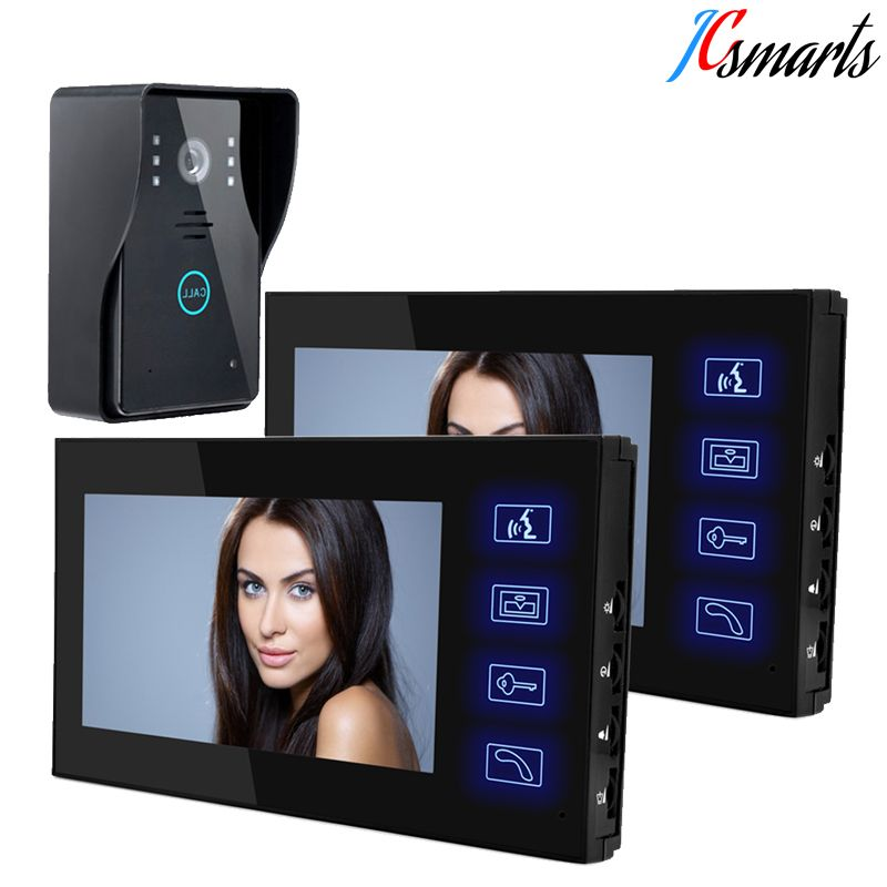JCSMARTS Wired 7\  Video Door Phone Intercom Doorbell Entry System 2 Monitors Touch Keys Hands  sc 1 st  Pinterest & JCSMARTS Wired 7\