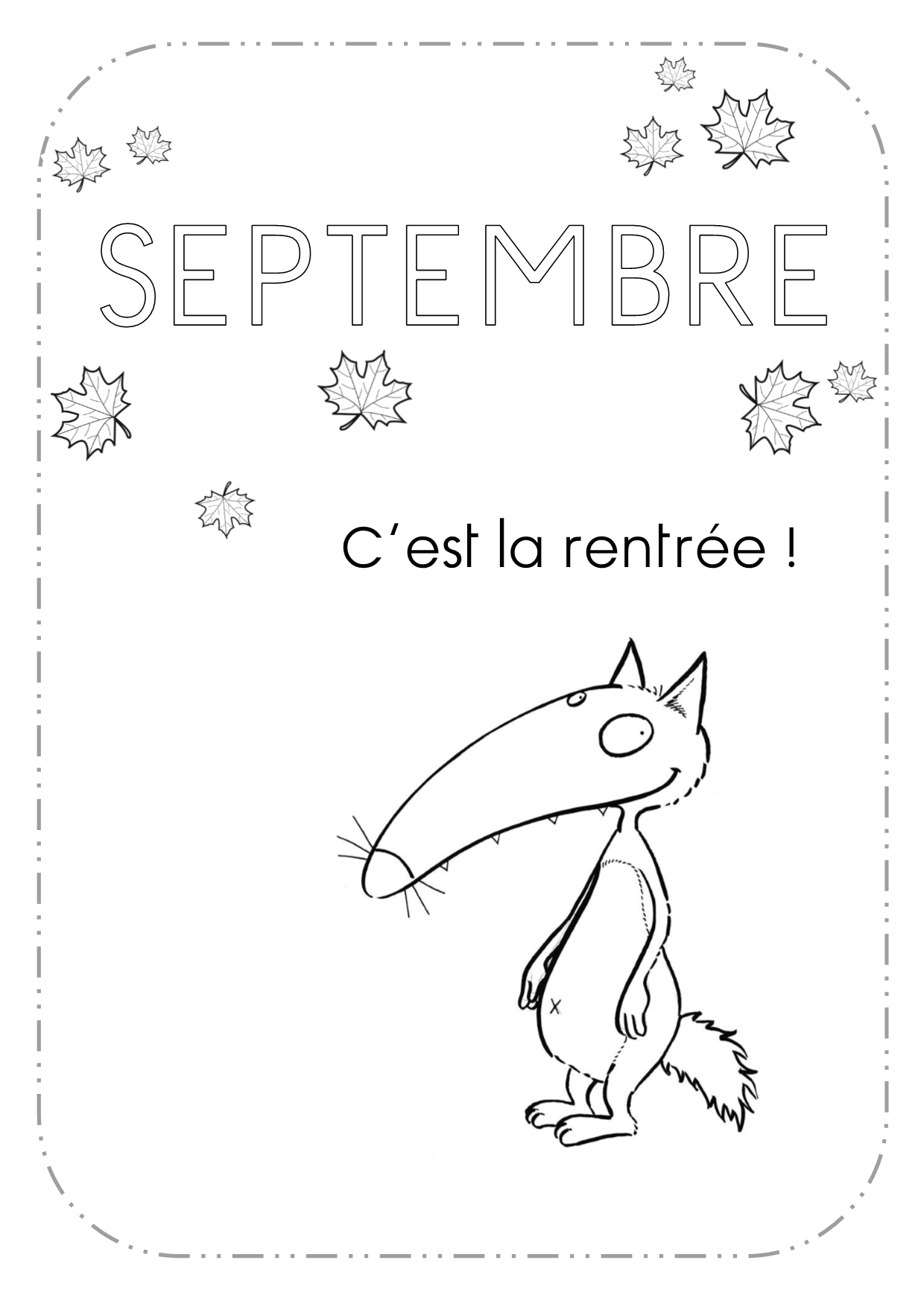 Lettrine roman de renart le loup wolf school organisation et 1st day of school - Cartable dessin ...