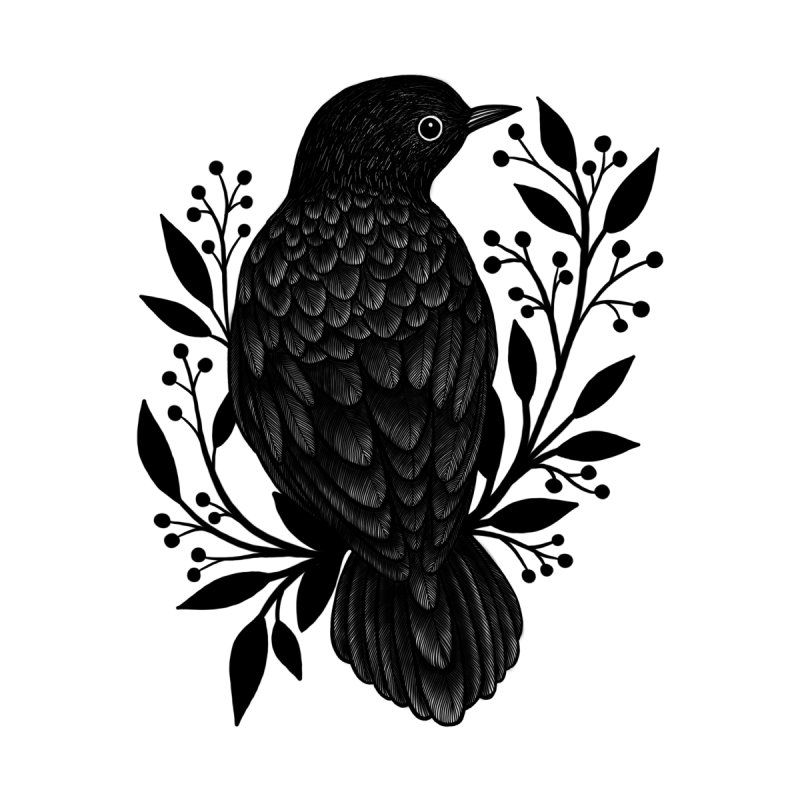 Botanical Blackbird