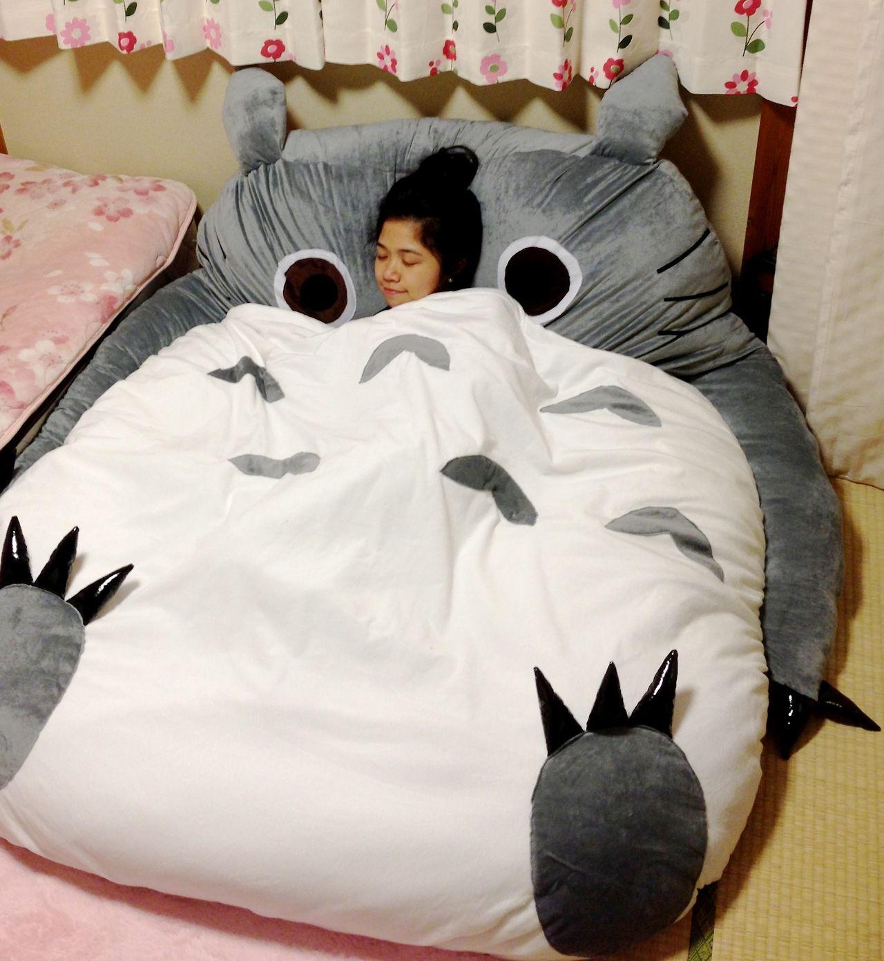 Totoro bean bag chair - Big Squishy Totoro Bed I Love I Love