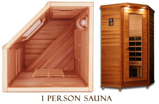 One Person, Small Space, Corner, Infrared Sauna. Coming